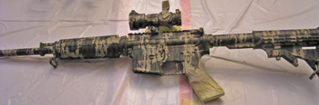 how to camouflage paint your rifle. Black Bedroom Furniture Sets. Home Design Ideas