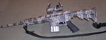 camo camouflage rifle