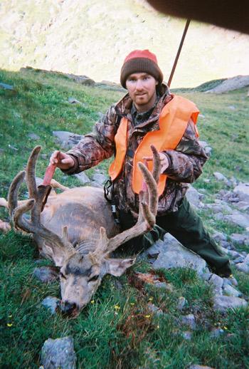 hunting high country mule deer