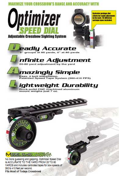 HHA speed dial optimizer crossbow sight